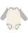 INFANT LONG SLEEVE BODYSUIT Natural/Heather Open