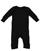 INFANT BABY RIB COVERALL Black