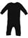 INFANT BABY RIB COVERALL Black Back