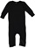 INFANT BABY RIB COVERALL Black Open