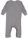 INFANT BABY RIB COVERALL Granite Heather Back