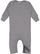 INFANT BABY RIB COVERALL Granite Heather Open