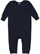 INFANT BABY RIB COVERALL Navy