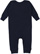 INFANT BABY RIB COVERALL Navy Back