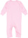 INFANT BABY RIB COVERALL Pink Open