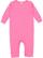 INFANT BABY RIB COVERALL Raspberry
