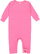 INFANT BABY RIB COVERALL Raspberry Open