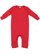 INFANT BABY RIB COVERALL Red