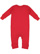 INFANT BABY RIB COVERALL Red Back