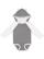INFANT LNG SLV BODYSUIT W EARS Granite Heather/White