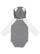 INFANT LNG SLV BODYSUIT W EARS Granite Heather/White Back