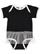 INFANT TUTU BABY RIB BODYSUIT Black/White