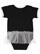 INFANT TUTU BABY RIB BODYSUIT Black/White Back