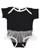 INFANT TUTU BABY RIB BODYSUIT Black/White Open