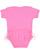 INFANT TUTU BABY RIB BODYSUIT Raspberry Back