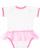 INFANT TUTU BABY RIB BODYSUIT White/Raspberry Back