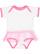 INFANT TUTU BABY RIB BODYSUIT White/Raspberry Open