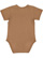 INFANT FINE JERSEY BODYSUIT Coyote Brown Back