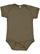 INFANT FINE JERSEY BODYSUIT Military Green Open