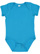 INFANT FINE JERSEY BODYSUIT Turquoise Open