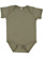 INFANT FINE JERSEY BODYSUIT Vintage Military Green Open