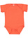 INFANT FINE JERSEY BODYSUIT Vintage Orange Open
