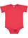 INFANT FINE JERSEY BODYSUIT Vintage Red Open