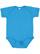 INFANT FINE JERSEY BODYSUIT Vintage Turquoise Open