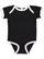 INFANT RUFFLE BODYSUIT Black/White