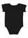 INFANT RUFFLE BODYSUIT Black/White Back