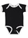 INFANT RUFFLE BODYSUIT Black/White Open