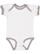 INFANT RUFFLE BODYSUIT White/Titanium Open