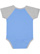 INFANT BASEBALL BODYSUIT Carolina Blue/Vintage Heather Back