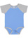 INFANT BASEBALL BODYSUIT Carolina Blue/Vintage Heather Open