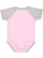 INFANT BASEBALL BODYSUIT Pink/Vintage Heather Back