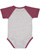 INFANT BASEBALL BODYSUIT Vintage Hthr/Vintage Burgundy Back