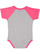 INFANT BASEBALL BODYSUIT Vn Heather/Vn Hot Pink Back
