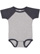 INFANT BASEBALL BODYSUIT Vintage Heather/Vintage Navy