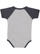 INFANT BASEBALL BODYSUIT Vintage Heather/Vintage Navy Back