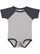 INFANT BASEBALL BODYSUIT Vintage Heather/Vintage Navy Open