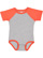 INFANT BASEBALL BODYSUIT Vintage Heather/Vintage Orange