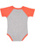 INFANT BASEBALL BODYSUIT Vintage Heather/Vintage Orange Back