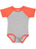 INFANT BASEBALL BODYSUIT Vintage Heather/Vintage Orange Open