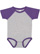 INFANT BASEBALL BODYSUIT Vintage Heather/Vintage Purple