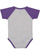 INFANT BASEBALL BODYSUIT Vintage Heather/Vintage Purple Back