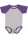 INFANT BASEBALL BODYSUIT Vintage Heather/Vintage Purple Open