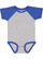 INFANT BASEBALL BODYSUIT Vintage Heather/Vintage Royal