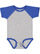 INFANT BASEBALL BODYSUIT Vintage Heather/Vintage Royal Open