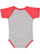 INFANT BASEBALL BODYSUIT Vintage Heather/Vintage Red Back