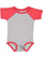 INFANT BASEBALL BODYSUIT Vintage Heather/Vintage Red Open